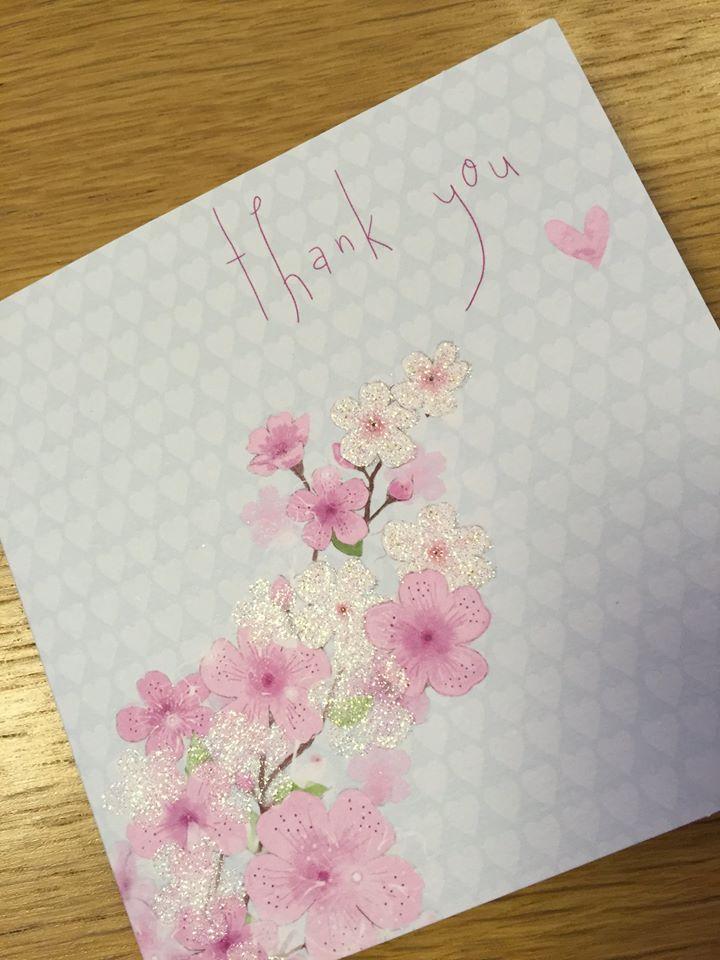 thank u card